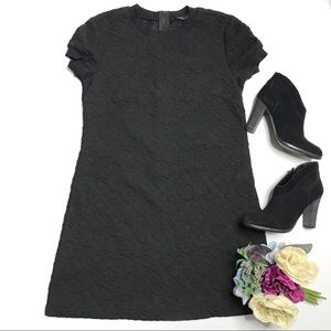 NWT Zara Woman Black Jacquard Texture Knit Dress